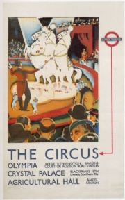 Vintage London underground poster - London circus